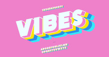 Vector Vibes 3d Bold Font Colo...