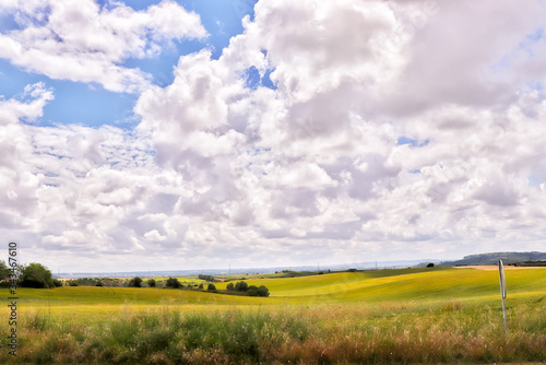 Fotografie, Tablou Scenic View Of Agricultural Field Against Sky
