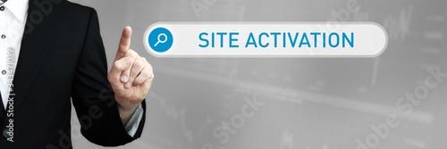 Site Activation Canvas Print
