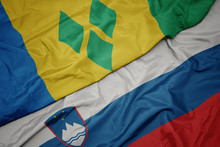 Waving Colorful Flag Of Sloven...