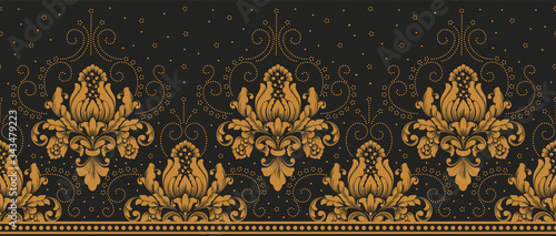 Stampa su Tela Vector damask border element and page decoration