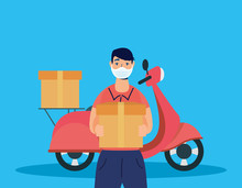 Delivery Service Worker Using ...