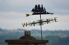 Low Angle View Of Weather Vane