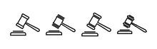 Gavel Icons Set. Hammer Icon V...