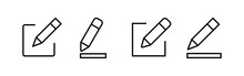 Edit Icons Set. Pencil Icon. S...