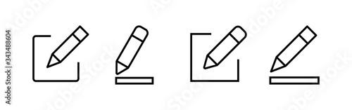 Fotografía Edit icons set. Pencil icon. sign up Icon vector