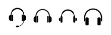 Headphone Icons Set. Headphone...
