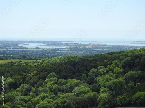 Fototapeta Panorama w bliskości miasta Chichester w Anglii obraz