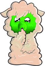 Alpaca Stickers Emoji Bad Nausea Green Face
