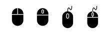 Computer Mouse Icons Set. Computer Mouse Vector Icon