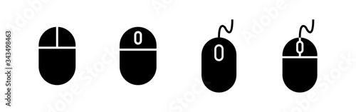 Fototapeta Computer Mouse Icons set. Computer mouse vector icon