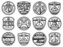 Marine Vector Icons, Yacht Clu...