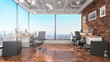 Modern office interior. 3d illustration