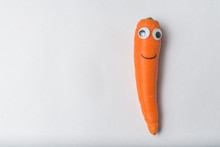 Funny Carrot Character With Go...
