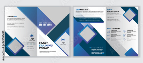 Vászonkép 4 pages corporate business brochure or professional modern multipurpose brochure