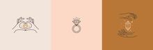 Set Of Jewelry Logo Design Tem...