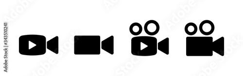 Fotografia Video camera icons set