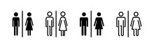 Toilet Icons Set. Toilet Sign. Man And Woman Restroom Sign Vector. Male And Female Icon