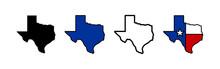 Texas Map Icons Set. Texas Map...
