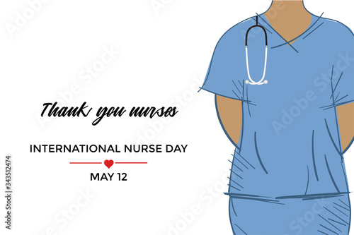 International Nurse Day campaign design Canvas Print
