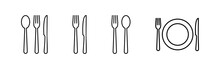 Restaurant Icons Set.Fork, Spo...