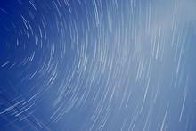 Fantasy Sky With Star Trails