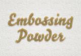 Golden Embossing Powder Text Effect Mockup - 343517448