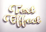 Golden and White 3D Text Effect Mockup - 343518018