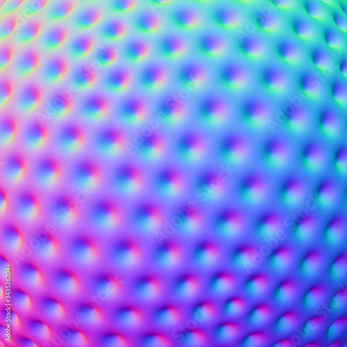 Valokuvatapetti Abstract spherical colorful dotted background; gradient blue, green and pink tex