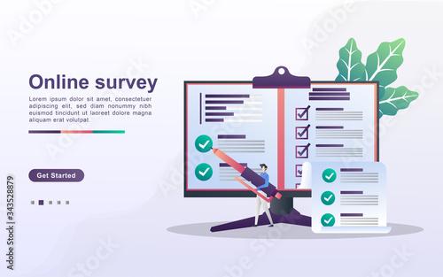 Fényképezés Online Survey concept