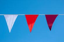 Three Triangular Flags Of Diff...