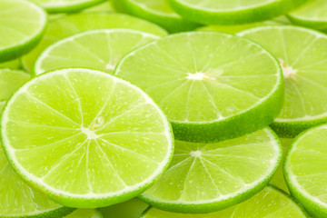 fresh green lime sliced background