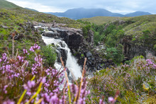 Amazing Waterfall At The Scottish Highlands
