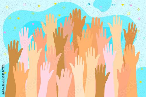 Concept of volunteering Fototapeta
