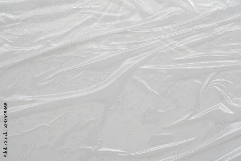 Fototapeta White plastic film wrap texture background