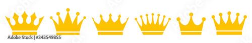 Photo Crown icons set. Vector illustration
