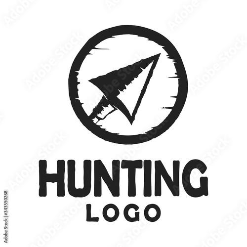 Native Indian Spear Arrowhead for Hunting, Hunt, Hunter Vintage Grunge Retro Hip Wallpaper Mural