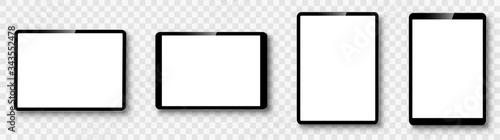 Fototapeta Tablet set on transparent background. Vector obraz