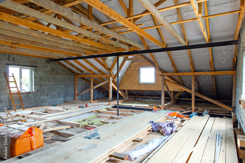Photo Construction of the second floor inside home