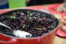 Close-up Of Mulberries In Container