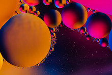 Abstract Colorful  Oil Bubbles...