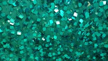 Full Frame Shot Of Turquoise Fabric With Sequin