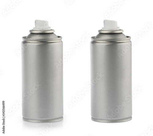 aerosol spray can isolated on white background Canvas Print