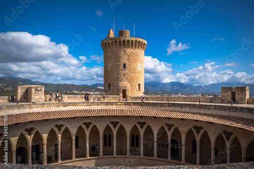 Bellver castle - medieval fortress in Palma de Mallorca, Balearic Islands