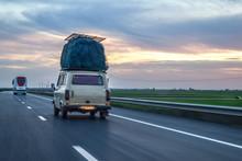 African Family Van Transportin...