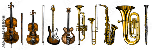Tela Jazz classical wind instruments set