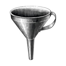 Vintage Funnel Hand Drawing En...