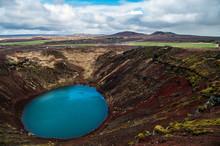 Lake In Old Volcano Kerid Crat...
