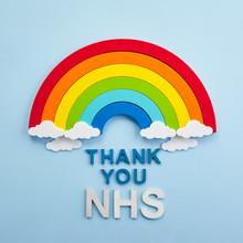 Thank You Nhs Rainbow Banner. ...