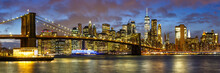 New York City Skyline Night Ma...